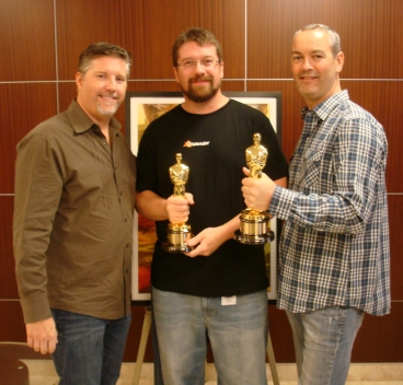 Me (middle) with Bill Westenhofer & Erik-Jan De Boer, Oscar winners for Life if Pi.