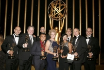 The CoSA team with their Emmys for Outstanding Special Visual Effects in a Supporting Role