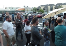 The parking lot party celebration!