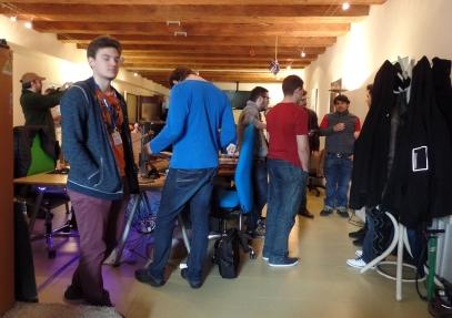 The packed scene inside the Blender Institute
